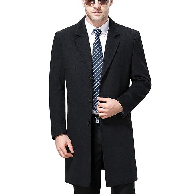 Abrigos para Hombres Cuello De Soporte Chaqueta De Invierno De Negocios Cálido Y Elegante Traje De