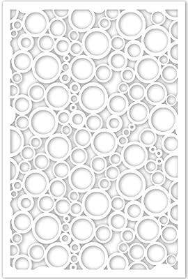 Acurio 4832ID-1-WH-JDC Lattice Jumbled Circles Panel Screen as Trellis, Patio & Outdoor Decor, White
