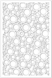 Acurio 4832ID-2-WH-JDC Lattice Jumbled Circles Panel Screen as Trellis, Patio & Outdoor Decor, White