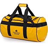 Duffle bag with Backpack Straps – Travel Weekender for Gym, Sports, Camping, by The Friendly Swede (Yellow, 60L) Review