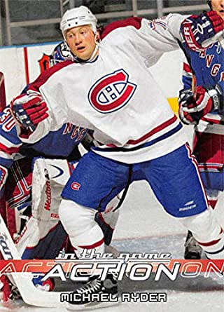 a447d547f 2003-04 In The Game Action Hockey  633 Michael Ryder Montreal Canadiens