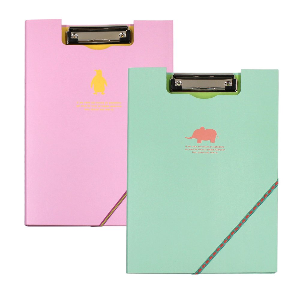 Standard Size Arch File Cover Folder Clipboard Colorful Mix Assorted Colors Pack of 2 (Multi-colored)