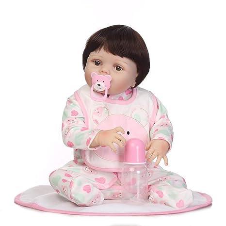 Lsrryd Pinky Muñecos Bebé Completo Cuerpo Silicona Real Vida ...