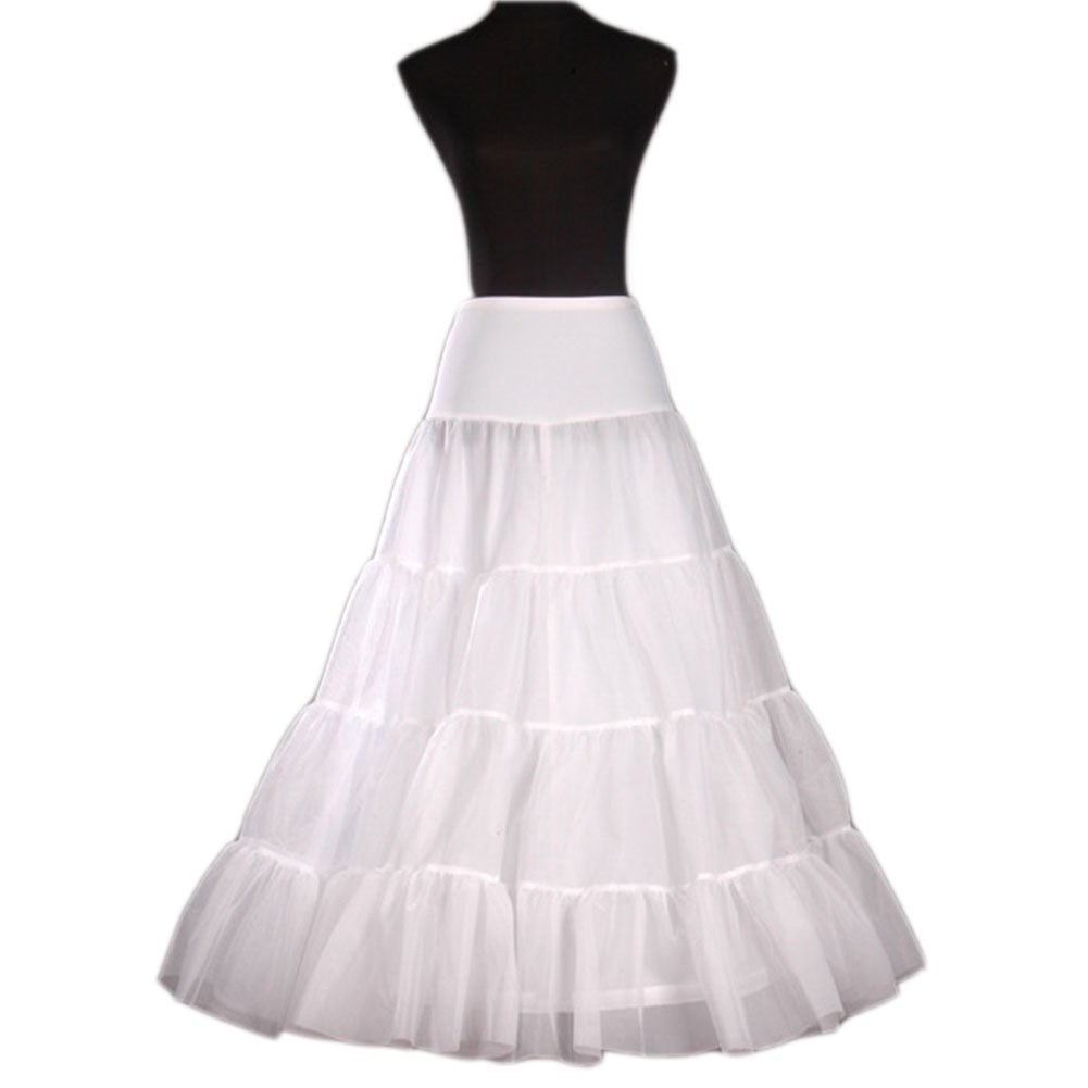 Ikerenwedding Women's a Line Petticoats Wedding Dress Ball Gown Underskirt Slips PT008