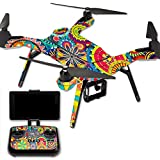 MightySkins Protective Vinyl Skin Decal for 3DR Solo Drone Quadcopter wrap cover sticker skins Flower Wheels