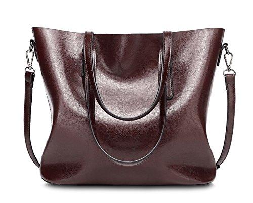 A à Rouge main à Profond Marron C Tibes synthétique mode Vin bandoulière cuir imperméable en du sac sac H4PF6zq