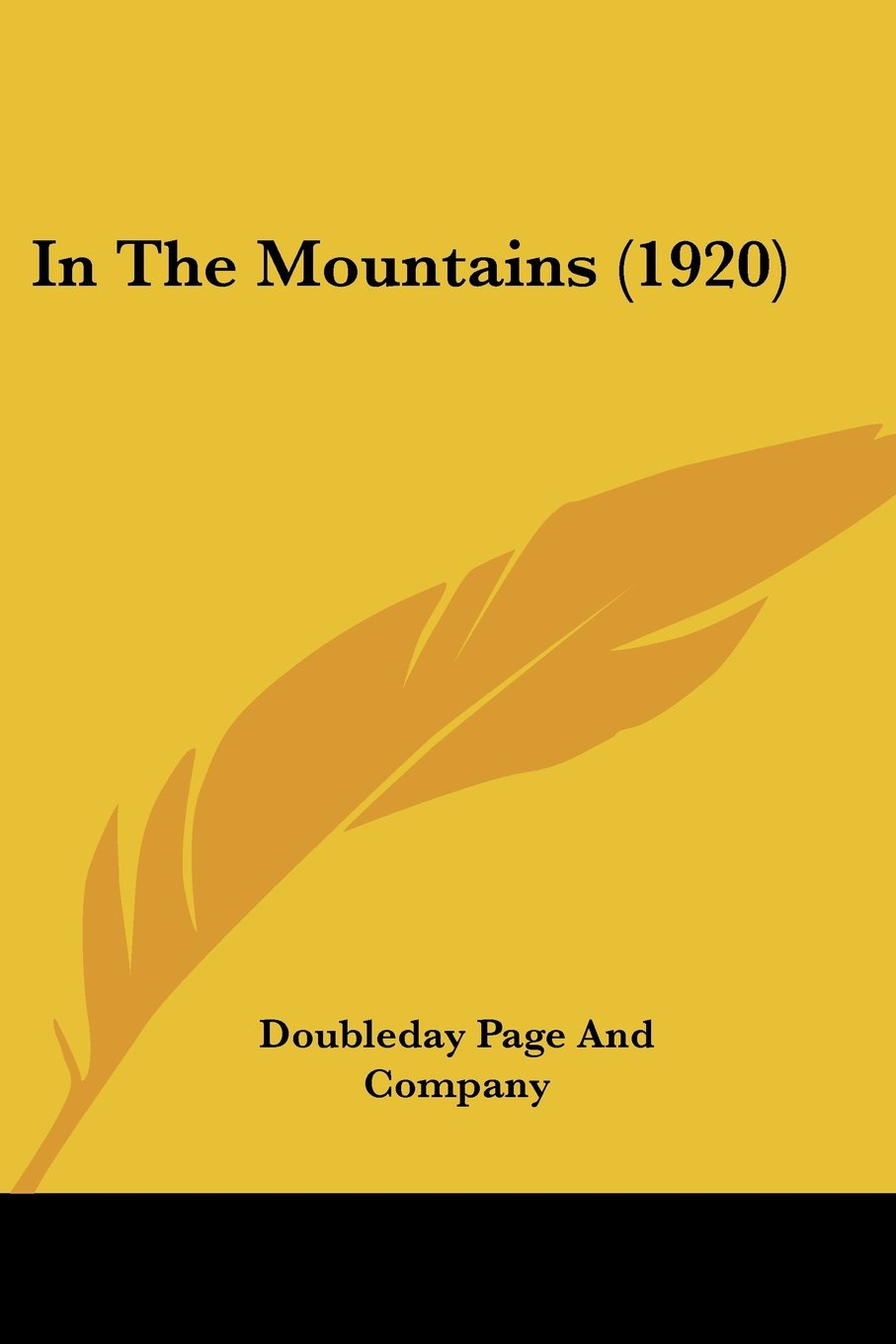 Read Online In The Mountains (1920) ebook