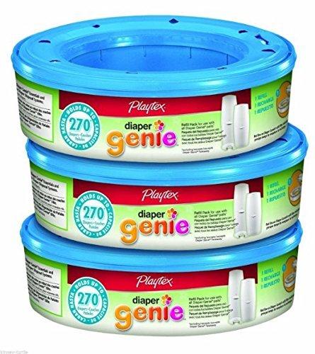 Playtex Diaper Genie Refill - 3 Pack - 270 ct. Per Pack = 810 Total - BNIB USA