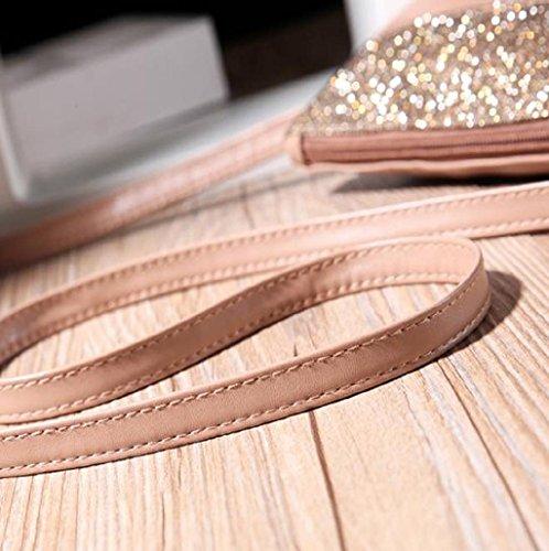 Bolsa Sannysis mujeres de moda monedero de mano, color caqui
