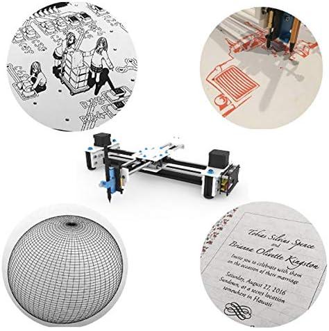 SISHUINIANHUA Mini XY 2 Ejes CNC Plotter Pen USB DIY máquina de Dibujo área de Grabado de Escritorio 280x200mm Dibujo del Robot: Amazon.es: Hogar