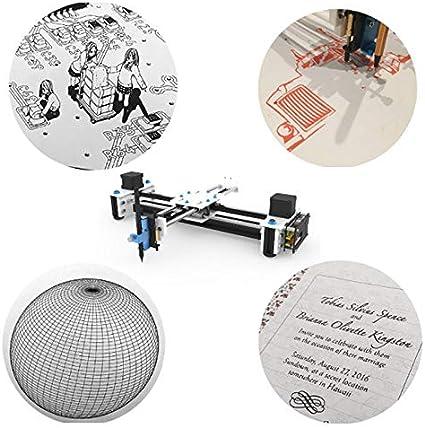 SISHUINIANHUA Mini XY 2 Ejes CNC Plotter Pen USB DIY máquina de ...