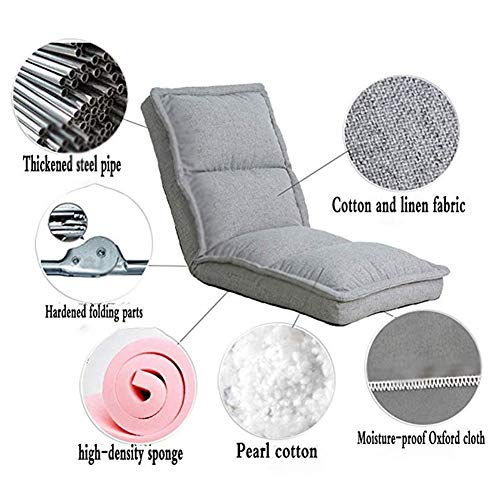 Amazon.com: Floor Chair, Deck Chair Metal Frame 5-Speed ...