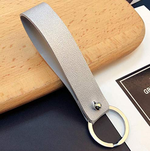 PU Leather Key Chain Braided Rope Wide Leather Cord Key Chains Holder Keyrings