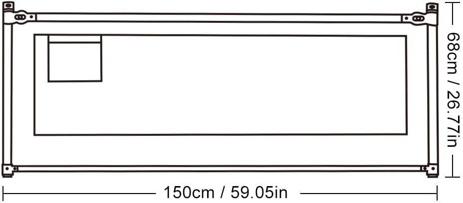 1.5M Barandilla de Cama Anti-ca/ída Infantil Levantamiento Elevaci/ón Vertical Altura Ajustable Riel de Cama Plegable para la Seguridad de los Ni/ños Beb/é