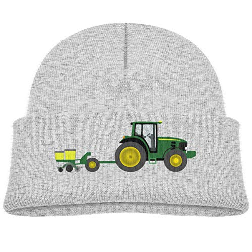 - Kocvbng I Interesting Tractor with Planter Beanie Cap Skull Hat Toddler Gray