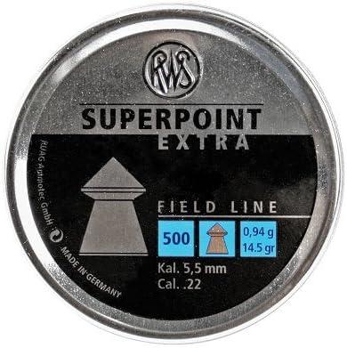 RWS Superpoint Extra Air Gun Pellets .22//5.50mm Qté 500 libre p/&p