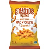 Beanitos Mac n' Cheese White Bean Crunch Plant Based Protein Gluten Free Non-GMO Corn Free Real Cheese Baked Snack 7 Ounce (Pack of 6)