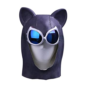 Máscara YN Catwoman Cat Girl Hood Sexy Catwoman Batman Halloween Video Juego Peripheral Props Headgear