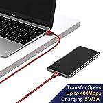 Cavo-USB-Type-C-GIANAC-5-Pezzi-025M05M1M2M3M-Nylon-Intrecciato-Tipo-C-di-Ricarica-Carica-Rapida-e-Trasferimento-Dati-Cavetto-per-Samsung-Galaxy-S8-S9-Note-8Huawei-P10P20-OnePlus-6T