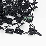 100pcs Reusable Self Adhesive Adjustable Wire Fixing Clamp Cable Tie Mount Straps