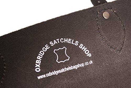 Oxbridge Satchels, Borsa a secchiello donna nero medium