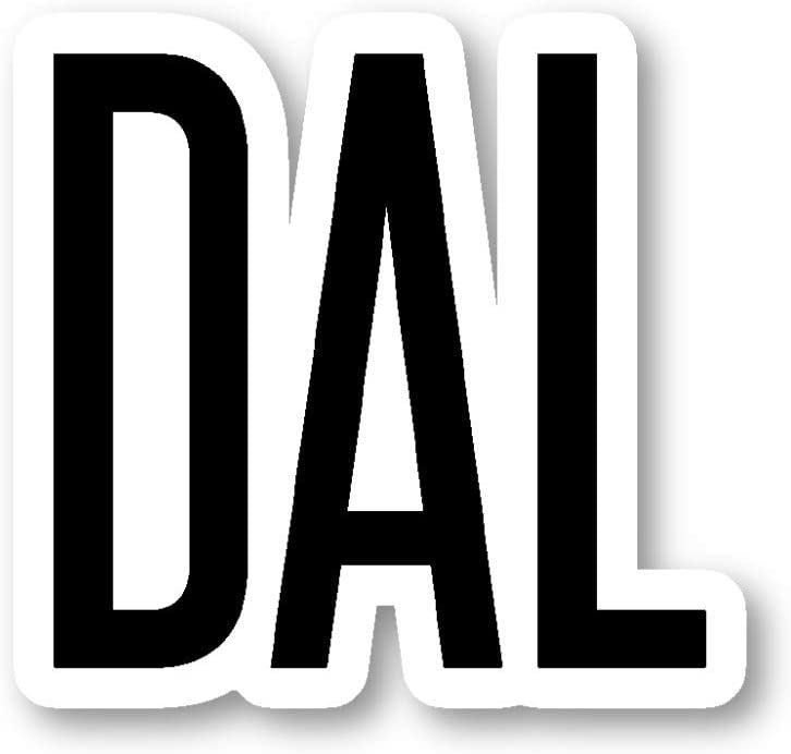DAL Dallas Sticker Airport Codes Stickers - Laptop Stickers - Vinyl Decal - Laptop, Phone, Tablet Vinyl Decal Sticker S12192