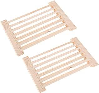 2 Piezas Rejilla de Ventilación de Cedro para Sauna, 8x5.3 Pulgadas, Accesorios para Sauna: Amazon.es: Bricolaje y herramientas