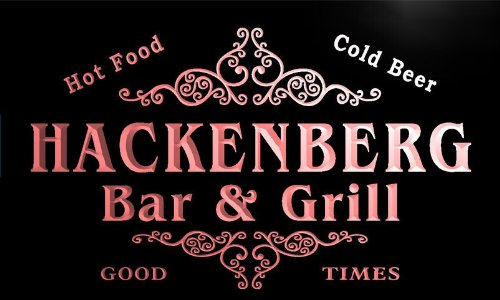 u18331-r HACKENBERG Family Name Gift Bar & Grill Home Beer Neon Light Sign