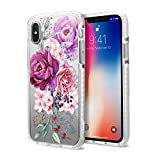 CASETiFY Impact Case, Military-Grade Dual-Layer Shockproof Protective Case for iPhones, iPhone Xs, Floral Flower