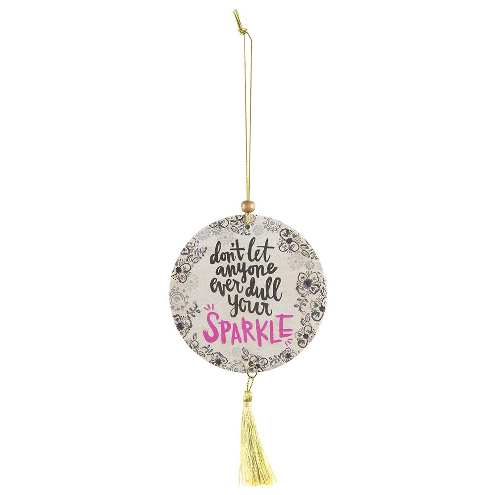 Natural Life Tassel Air Freshener, Don't Dull Your Sparkle, Set of 2 Don' t Dull Your Sparkle AFR098