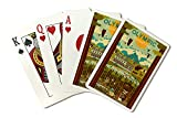 Olympic National Park, Washington - Geometric (Playing Card Deck - 52 Card Poker Size with Jokers)