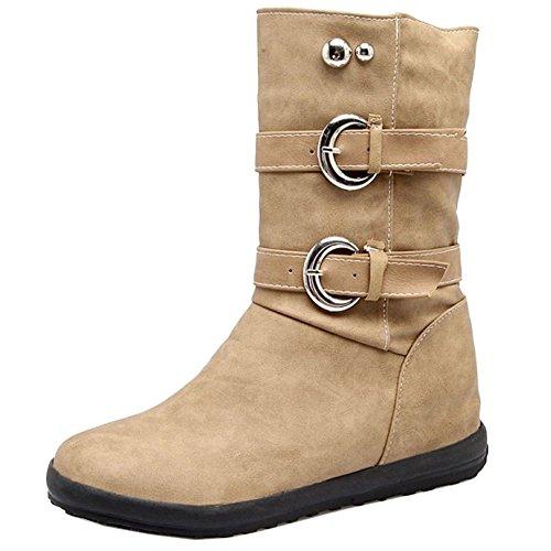 Flate Kvinners Trekke Boots Razamaza På Gul Hw1nqRWHFB