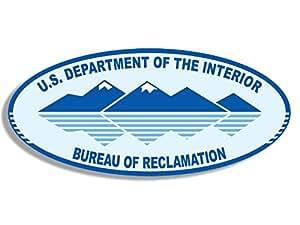 oval bureau of reclamation logo sticker us dept interior seal automotive