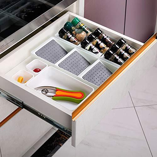 Bggie Kitchen Especiero caj/ón de Almacenamiento Antideslizante 3 Rejillas Organizador para condimentos Botellas