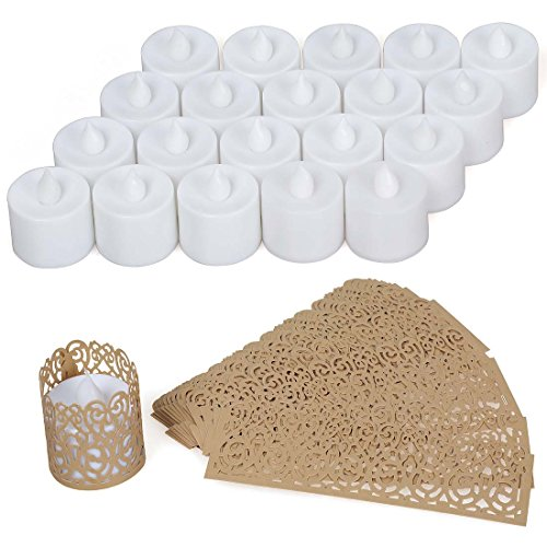 Avery Barn 20pc Orange Light Flickering Effect Decorative Plastic LED Candle Set by Avery Barn