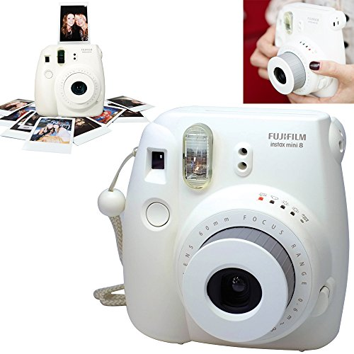free shipping fujifilm instax mini 8 instant film camera white fujifilm instax mini instant. Black Bedroom Furniture Sets. Home Design Ideas