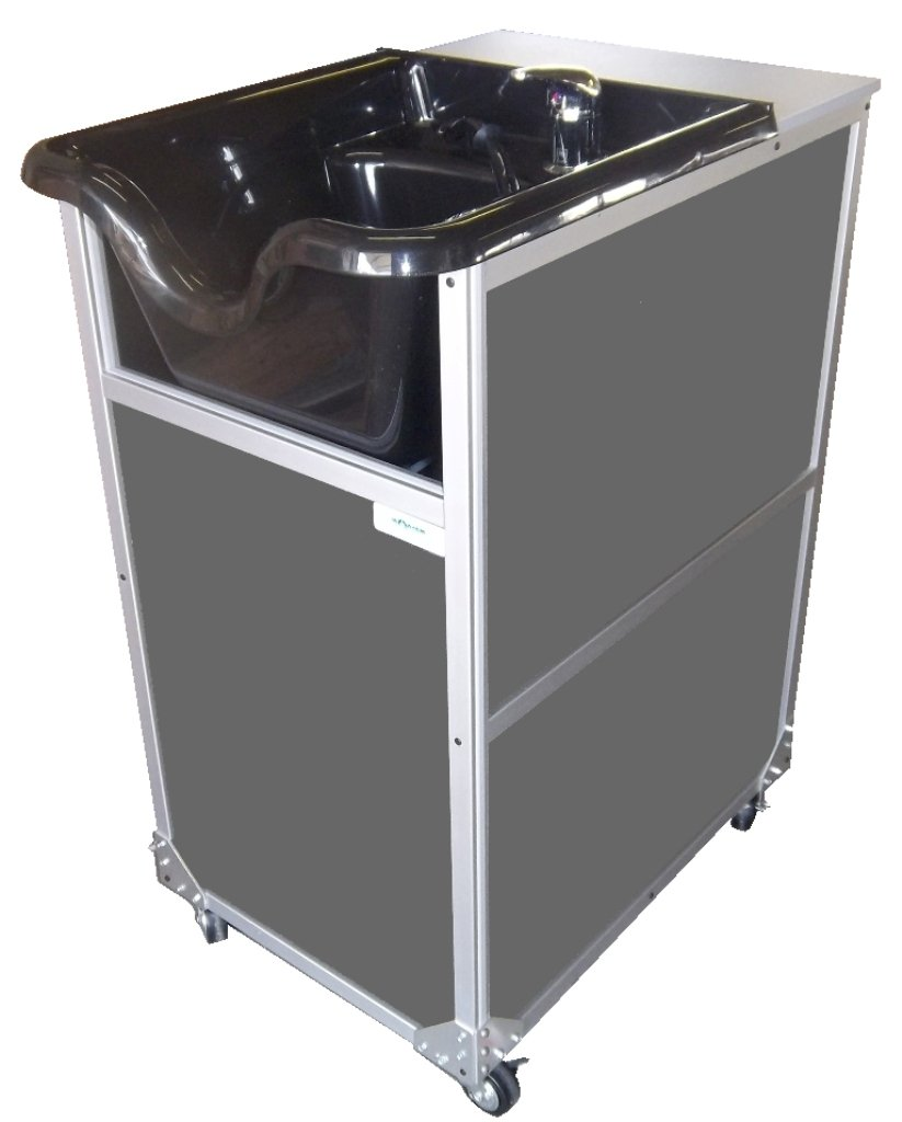 Monsam PSE-2005S Portable Shampoo Sink with Sprayer, Grey