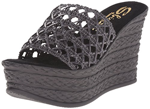 Sbicca Women's Plantain Wedge Sandal, Black, 7 B US