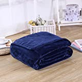 Candy Color Flannel Bed Blanket Sheet Extra Soft Warm Plush Easy Care Lightweight Fluffy Bedding Blankets for Kid Girl Boy Toddler Children Baby Sleeping Bedroom Bed Room