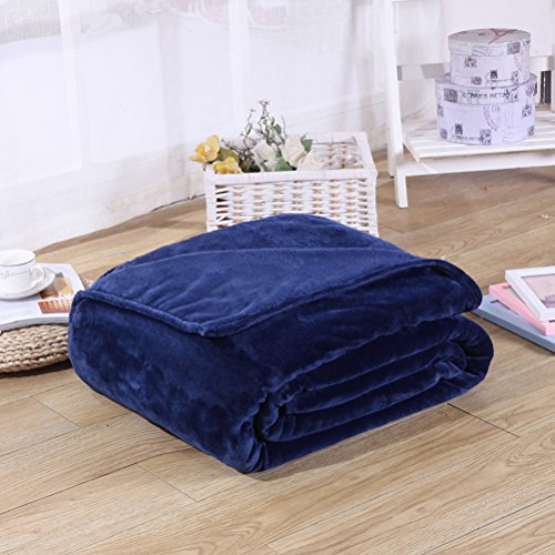 Candy Color Flannel Bed Blanket Sheet Extra Soft Warm Plush Easy Care Lightweight Fluffy Bedding Blankets for Kid Girl Boy Toddler Children Baby Sleeping Bedroom Bed Room by LivebyCare