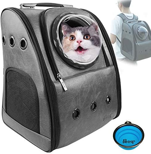 PETRIP Cat Carrier Cat Backpack Carrier for Large Cats 24 lbs Dog Backpack Carrier Dog Travel Bag Pet Backpack Carrier for Medium Small Cat Dogs Carrier for Hiking Airline Approved Pet Carrier