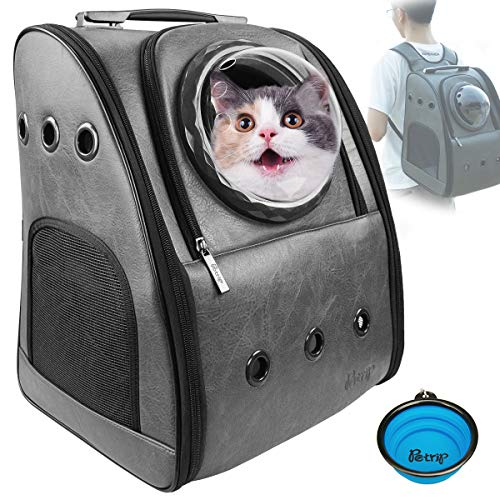 PETRIP Dog Backpack Carrier Cat Backpack for Large Cats 22 lbs Dog Travel Bag Pet Backpack Carrier for Medium Small Dogs Cat Carrier for Hiking Airline Approved Pet Carrier -