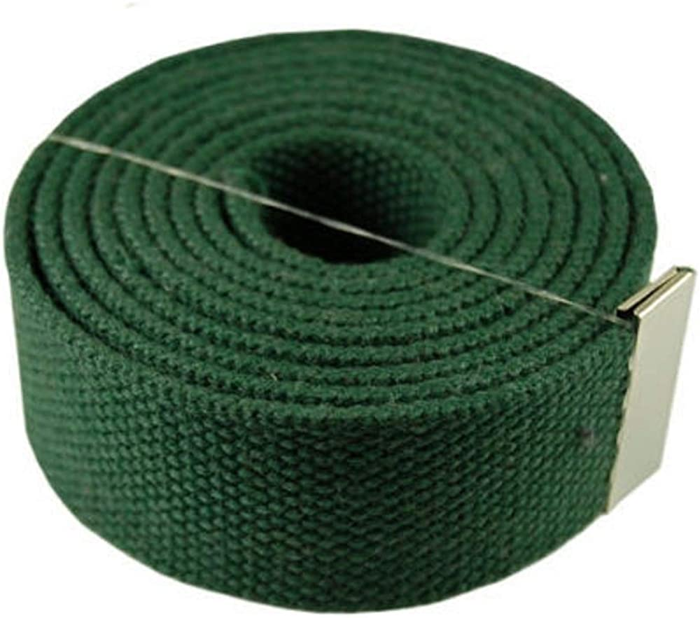 GREEN #MNAS Top Quality 54 Canvas Web Belt Military Gold Metal Buckle /& Belt