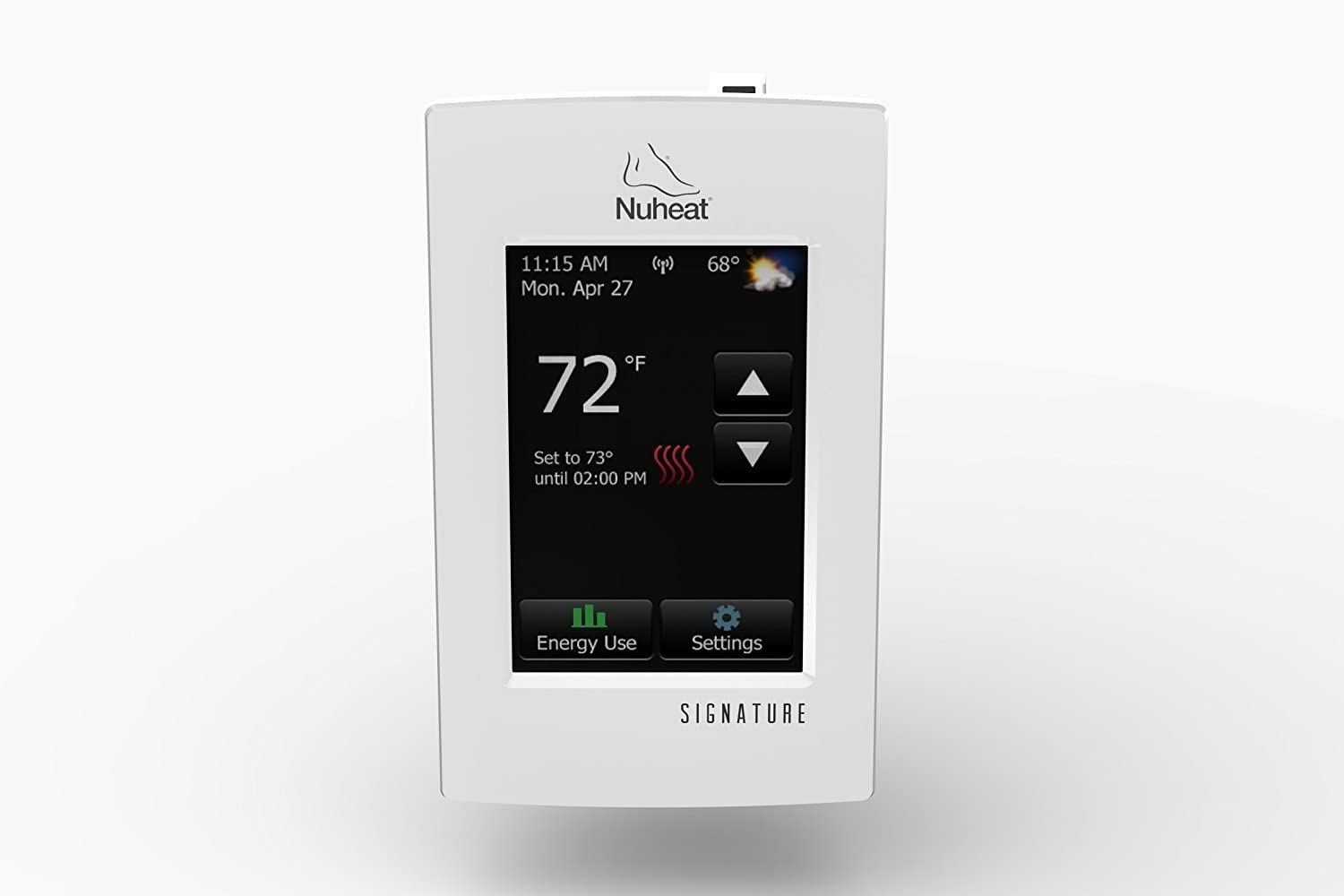 NUHEAT AC0055 SIGNATURE WiFi Touchscreen Programmable Dual-Voltage Thermostat by Nuheat