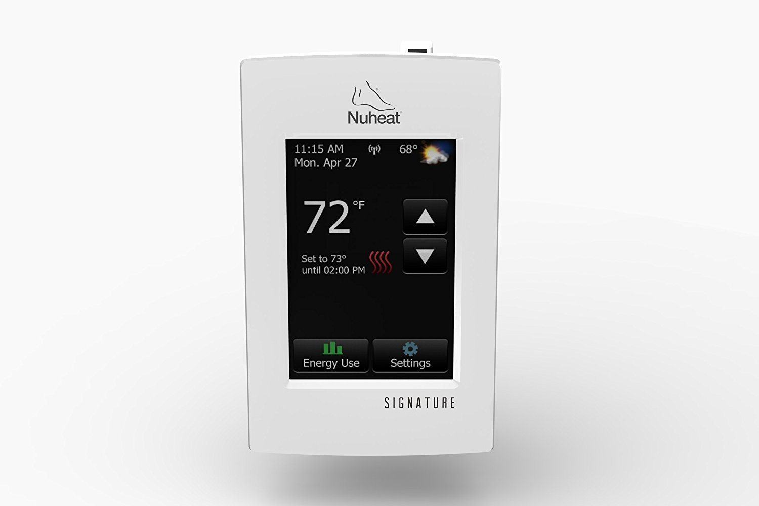 Nuheat SIGNATURE Programmable Dual-Voltage Thermostat with WiFi and Touchscreen Interface, Works with NEST by Nuheat