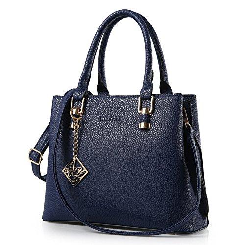 VINICIO Women's Pure Metal Buckle Fashionable PU Leather Handbag One-shoulder - Shoping In Usa