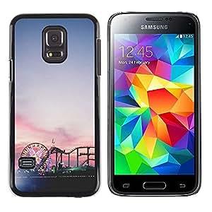 Be Good Phone Accessory // Dura Cáscara cubierta Protectora Caso Carcasa Funda de Protección para Samsung Galaxy S5 Mini, SM-G800, NOT S5 REGULAR! // Ferris wheel Coney island sunse
