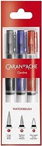 Caran d 'Ache d-ache 115.3033pièce–Brushes Brush (S) (Red, White, 3Piece (S))