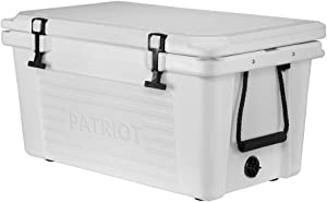 Patriot 50qt Rotomolded Cooler Ice Chest - Hunting, Fishing, Tailgating, Camping, Sports, Construction Sites - Holds up to 62 Cans