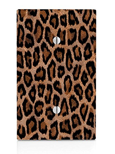 Leopard Print Design Pattern Single Blank Electrical Switch Plate